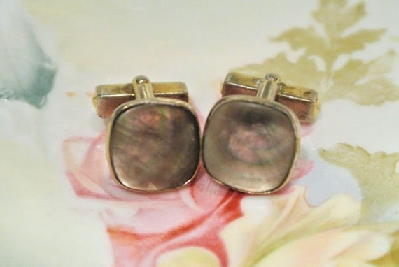 Anson Black Mother of Pearl Cuff Links