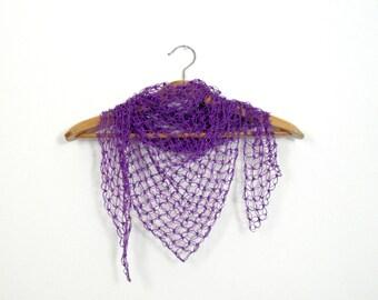 purple crochet stole
