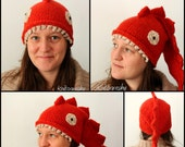 Dragon Hat knitting pattern for different sizes, baby to adult, PDF download, winter fashion DIY, geekery, dragons, kids