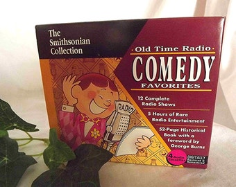 Radio Comedy Old Time Radio Boxed Set Audio Cassettes With Book George Burns Jack Benny Burns And Allen Eddie Cantor Gift For Him