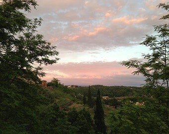 Sunset over the Tuscan Hillside