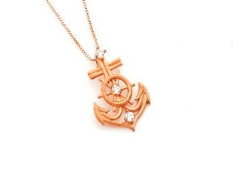 Gold Anchor, Anchor, Anchor Jewelry, 14k Anchor, Anchor Pendant, Anchor Necklace, Diamond Anchor, Dainty Jewelry, Nautical Pendant