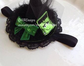 Mini Witch Hat-Headband, Infant Witch Hat Headband, Newborn halloween Headband Toddler Witch Hat- Witch Hat-Halloween Hat