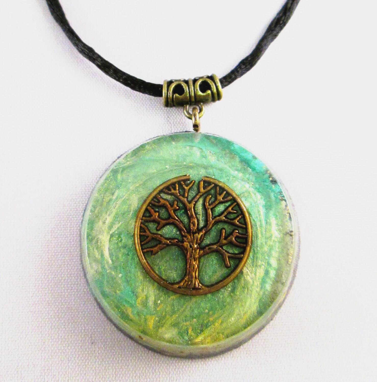 orgonite pendant talisman large emf protection and energy