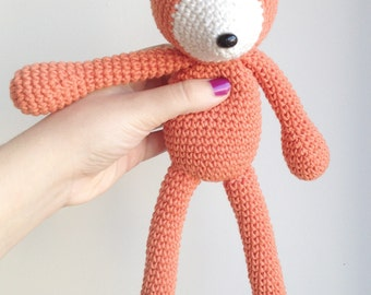 Fox Plush, Fox Stuffed Animal, Fox Plushie, Fox Stuffed Toy, Crochet Fox