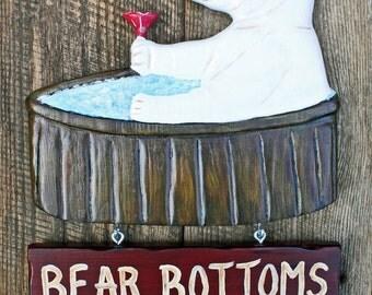 Hot Tub Sign -  Polar bear, Spa Sign