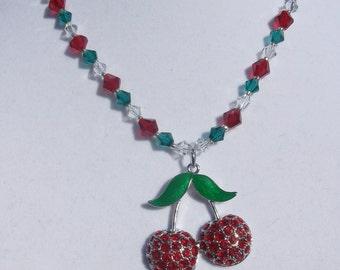 handstrung cherry necklace