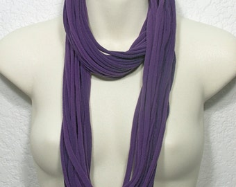 SALE PRICE Infinity Necklace Scarf Upcycled Jersey T-Shirt Seamless String Necklace