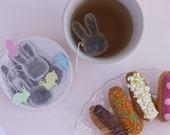 Bunny Shaped tea bags / Easter Tea Bags / rabbit tea