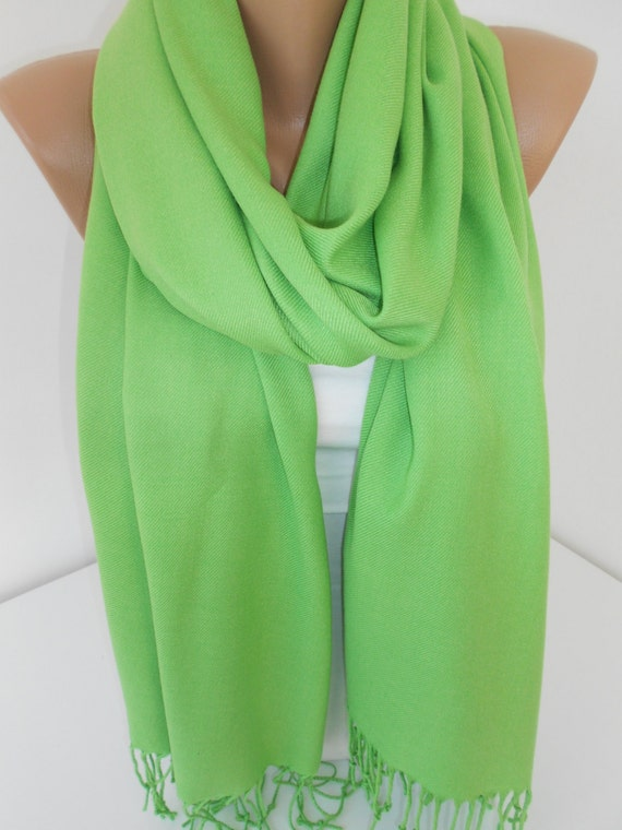 St Patricks Day Pashmina Scarf Shawl Apple Green By