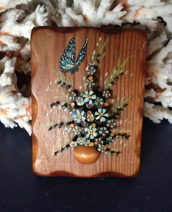 Items Similar To Pol-o-Craft Nail Art, Floral On Wood On Etsy