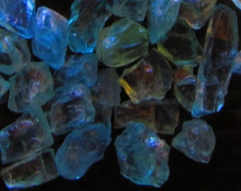 Rough Neon Blue Apatite Crystals By The Gram