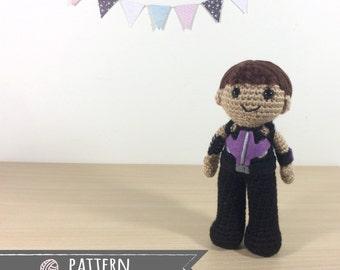 Hawkeye Amigurumi Crochet Doll Pattern