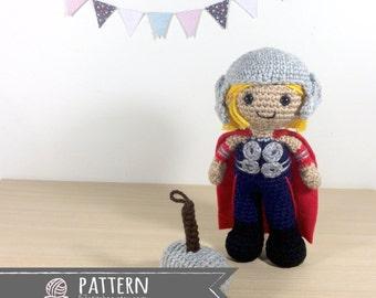 Thor Odinson Amigurumi Crochet Doll Pattern
