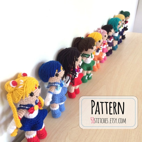Amigurumi Moon Pattern : Collection of Sailor Moon Amigurumi Patterns