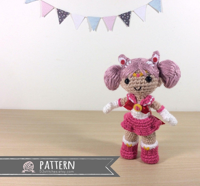 Amigurumi Mini Doll Pattern : Sailor Mini Moon Amigurumi Crochet Doll Pattern