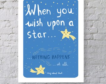 When you wish upon a star Print
