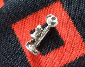 Sterling Telephone Charm Vintage Figural Candlestick Telephone Charm Sterling Silver Charm for Bracelet from Charmhuntress 000207