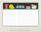 Personalized Recipe Card - Mid-Century Modern Kitchen - Retro - Printable or Printed