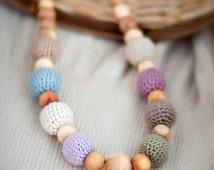 Earthy nursing necklace / teething necklace / breastfeeding necklace