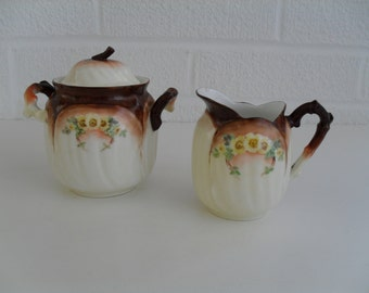 Cream Pitcher and Sugar Bowl Set Leonard China Made in Vienna Austria