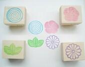 Japanese stamp, Handmade stamp, Rubber stamp ,Asian decor, DIY wedding, Japanese pattern, Scrapbooking, Spiral Apricot Chrysanthemum Rainbow