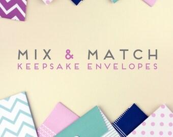 MODERN Baby Book //  Set of 3 Designed Keepsake Envelopes. newborn keepsake. baby book. baby keepsake. memory book. baby shower gift