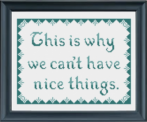 This is why we can't have nice things - ombre cross-stitch pattern