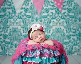 Newborn Photography Prop Ruffle Bucket