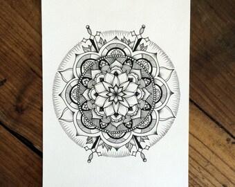 Mandala Traditional - Tattoo print
