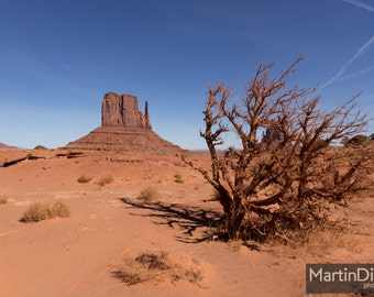 The desert landscape of Monument Valley - Landscape photography - mounted print photograph 12 x 9