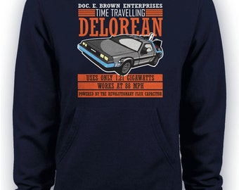 Back to the Future - Doc E. Brown Enterprises Time Travelling Delorean Hoodie
