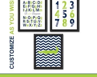 aligator new baby gift, alphabet name art numbers, nursery art prints, nursery room decor, personalized baby prints, alphabet nursery gator