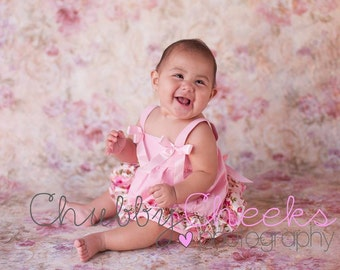 Baby girl clothes, baby girl outfit, pink floral top and baby bloomers, baby dress, diaper cover, romper, baby clothing