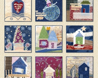 Half Yard Our House - Houses in Multi - Cotton Quilt Fabric - by Tracie Lyn Huskamp for Windham Fabrics (W2135)