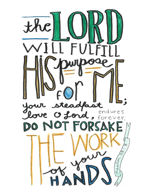 Psalms 138 8x10 Print