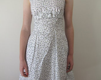 1950s vintage-style  fine floral day dress
