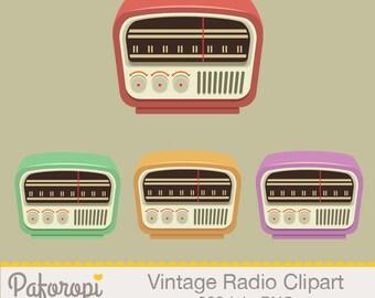 Vintage Radio Clipart