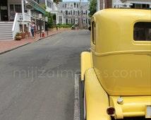 Vintage Yellow Car Edgartown Martha's Vineyard