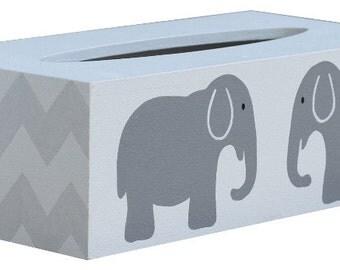 Chevron Elephant Tissue Box Cover