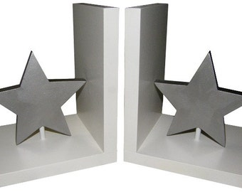 Star Bookends - Wooden Star Bookends