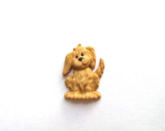Cute Puppy- Spaniel Puppy Pin- Lapel Pin or Tie Tack