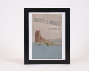 Vintage King's Landing Game of Thrones -inspired print