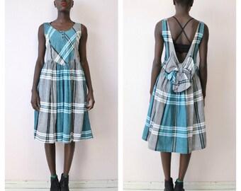 Vintage 80's Plaid Dress