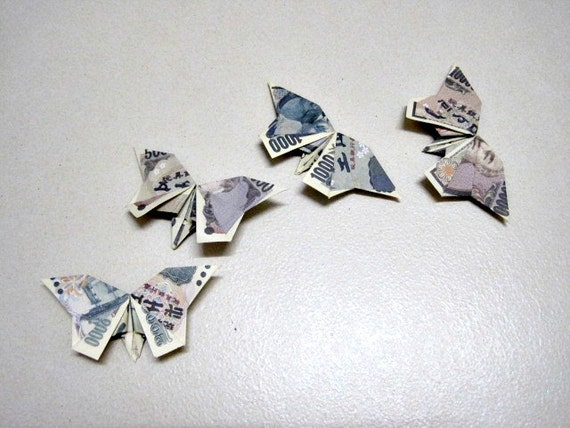 origami money butterfly folding instructions