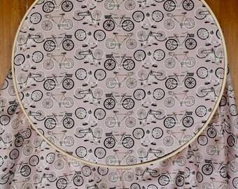 Bicycle Nursery - Crib Sheet - Bicycle Baby Bedding - Pink Crib Sheet - Girl Baby Bedding - Bike Baby Bedding - Bike Crib Sheet