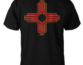 LoyalTee New Mexico Flag T-shirt, screen printed on front and back.  FREE SHIPPING on orders of 3 or more LoyalTees!