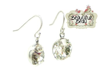 Diamante Wedding Bridal Earrings - wedding jewellery, bridal jewellery, bridesmaid earrings, pearl earrings, gift