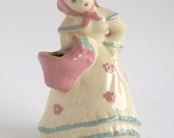 Weil Figural Vase -  Girl With Pink Scarf