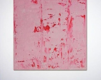Original abstract painting textured light pink red wall art contemporary minimalist modern
